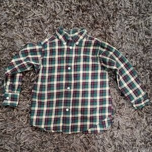 Perfect holiday plaid Ralph Lauren 2t button up